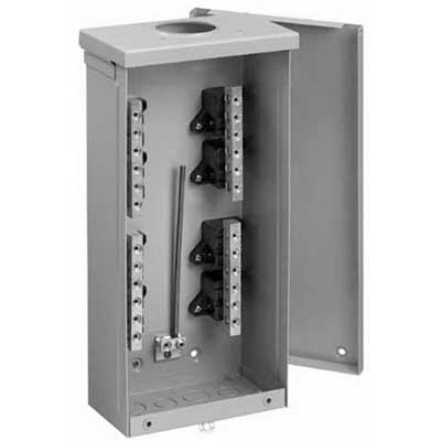 Hoffman Pentair TB3R403 Terminal Box; 400 Amp, 4-Bar, 16 Gauge Steel, NEMA 3R