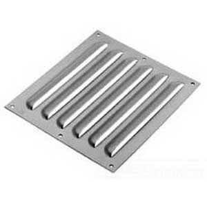 Hoffman AVK88 Louver Plate Kit; 14 Gauge Steel, Polyester Powder-Coated Over Phosphatized Surface, Gray