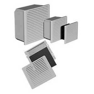Hoffman TFP62UL12 TFP6 Series Filter Fan; 230 Volt, RAL 7035 Light Gray, 50 cfm At 50 Hz, 60 cfm At 60 Hz; Side Mount