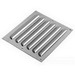 Hoffman AVK44 Louver Plate Kit; 14 Gauge Steel, Polyester Powder-Coated Over Phosphatized Surface, Gray