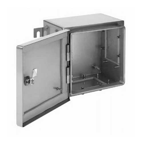 Hoffman Pentair ATEX262616SS63 Zonex & trade Enclosure With 3 Gland Plates 10.240 Inch Width x 6.300 Inch Depth x 10.240 Inch Height 316 Stainless Steel