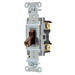 Hubbell Wiring CSB120 Specification Grade Commercial Series Switch; 120 - 277 Volt AC, 20 Amp, Two Position, 1-Pole