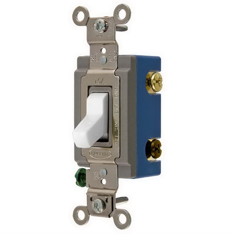 Hubbell Wiring HBL1204W HBL Extra Heavy Duty 4-Way Switch 120 - 277 Volt AC  15 Amp  Two Position