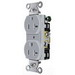 Hubbell Wiring CRF20WHI Heavy Duty Specification Grade Straight Blade Duplex Receptacle; 2-Pole, 3-Wire, 20 Amp, 125 Volt, 5-20R NEMA, Screw Mount, White