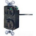 Hubbell Wiring HBL8300LA HBL® Style Line® Extra Heavy Duty Specification Grade Traditional Tamper Resistant Straight Blade Duplex Receptacle; 2-Pole, 3-Wire, 20 Amp, 125 Volt, 5-20R NEMA, Screw Mount, Light Almond
