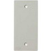 Hubbell Wiring KP14 Low-Profile 1-Gang KP Blank Faceplate; Plastic, Office White