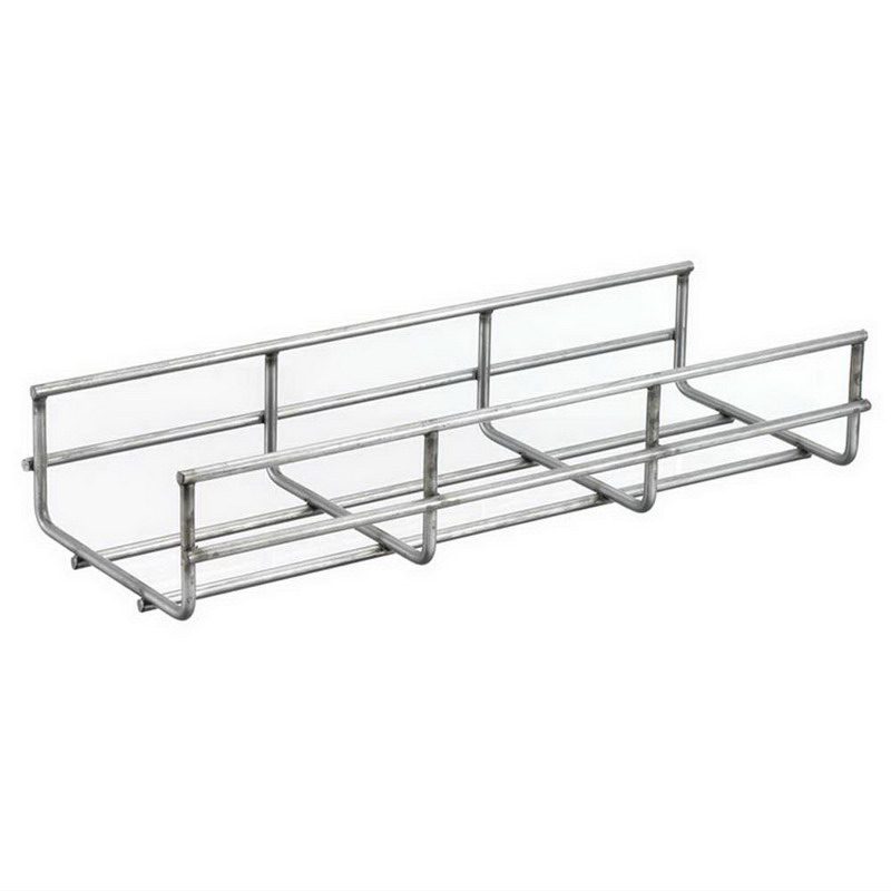 Hubbell Wiring HBT0218 Round Wire Basket Tray; 118.312 Inch x 18 Inch, Recycled Steel, Pre-Galvanized