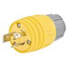 Hubbell Wiring 28W08H Twist-Lock® Watertight Locking Plug; 3-Pole, 4-Wire, 30 Amp, 125/250 Volt, Cord Mount, Yellow