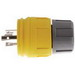 Hubbell Wiring 28W09H Twist-Lock® Watertight Locking Plug; 4-Pole, 4-Wire, 30 Amp, 120/108 Volt, Cord Mount, Yellow