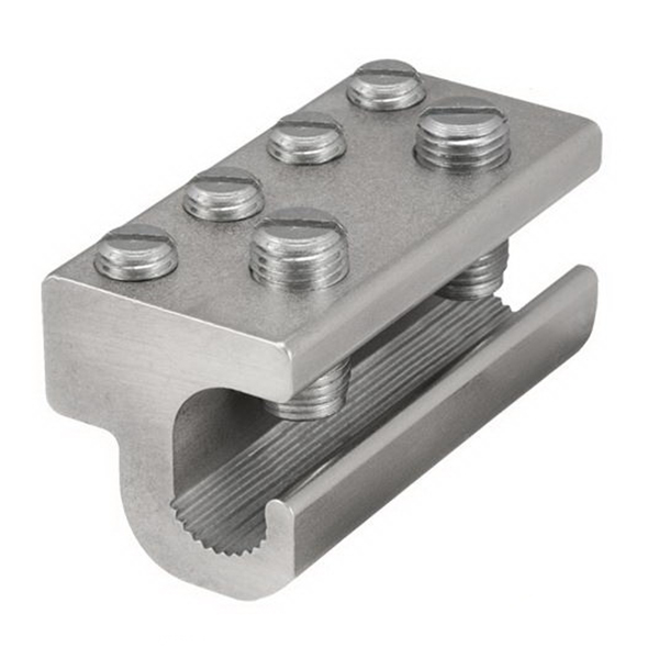 Ilsco GBT-1/0-M-W/C Grounding Clamp; Stainless Steel Screw