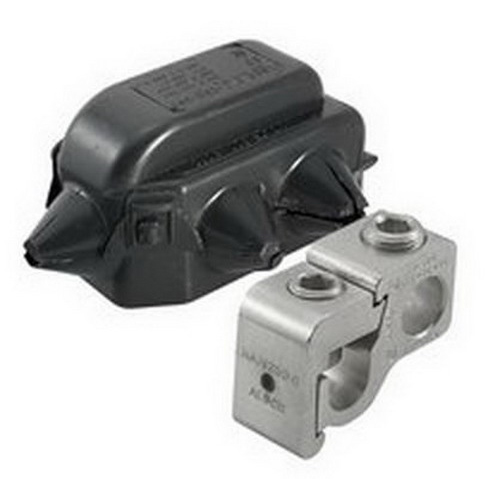 Ilsco GTA-250-250-W/C Mechanical Tap Connector With Cover; 250 KCMIL - 1/0 AWG, 5/16 Inch