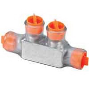 Blackburn / Elastimold CSR-350 One-Way Configuration Dual Rated Multi-Tap Encapsulated Cable Block; 350 KCMIL - 6 AWG Copper/Aluminum, 2 Port, Aluminum