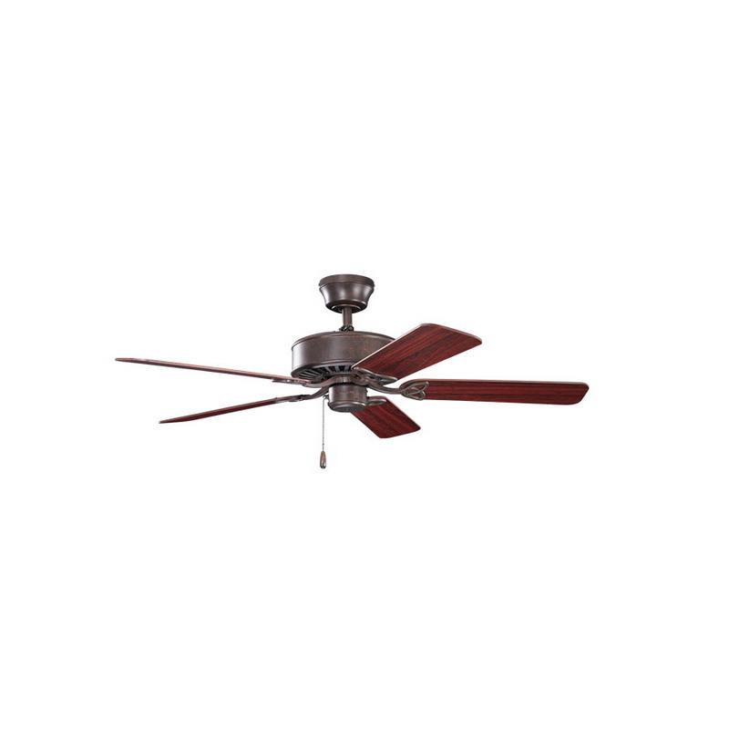 Kichler 330100TZ Ceiling Fan; 50 Inch, Wood, Tannery