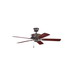 Kichler 330100TZ Ceiling Fan; 50 Inch, Wood, Tannery