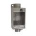 Hubbell Electrical / Killark FSC-1 Feed Thru 1-Gang Weatherproof Cast Device Box; Copper-Free Aluminum, Gray