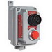 Hubbell Electrical / Killark FXCS-4B13-O-M Seal-XM™ Pushbutton Switch With LED Pilot Light; 120 Volt, Momentary, Green