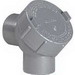 Hubbell Electrical / Killark Y-2M Capped 90 Degree Elbow; 0.750 Inch, Threaded, Malleable Iron