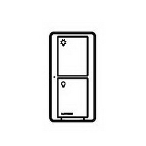 Lutron PD-5S-DV-WH 2-Button RF Switch; 120/277 Volt AC, 5 Amp Lighting Load, 3 Amp Fan, White