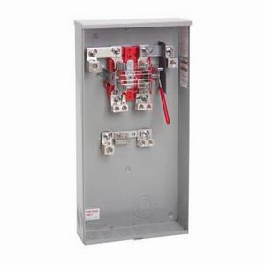 Milbank U1129-O-K3L-K2L Ringless 3-Wire Lever Bypass Meter Socket 600 Volt AC- 320 Amp Continuous- 1-Phase- Surface Mount-