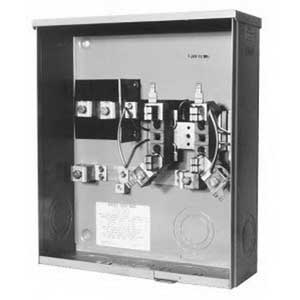 Milbank U1980-O-KK Ringless 3-Wire Horn Bypass Meter Socket; 600 Volt AC, 200 Amp Continuous, 1-Phase, Surface Mount