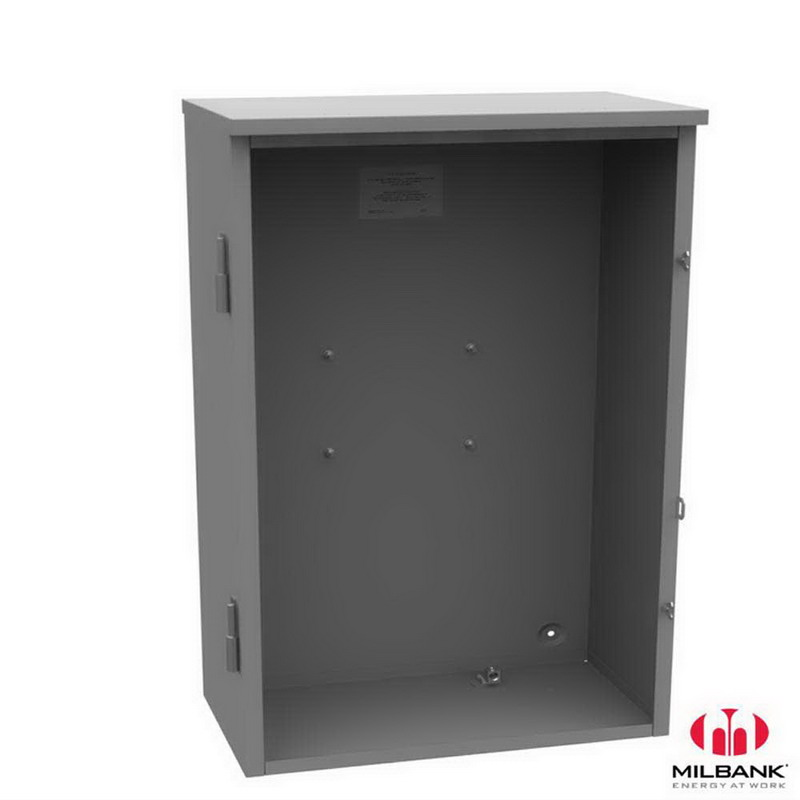 Milbank CT244811-HC Single Door Current Transformer Cabinet; 24 Inch Width x 11 Inch Depth x 48 Inch Height, Steel, Surface Mount