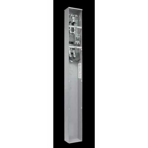 Milbank NU8980-O-SF100-KK Ringless 3-Wire Meter Main Pedestal; 120/240 Volt AC, 100/200 Amp Continuous, 1-Phase, Pedestal Mount