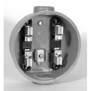 Milbank AP2300-03-5T-AB Ring Economy Cast Socket; 600 Volt AC, 100 Amp Continuous, 1-Phase, Die-Cast Aluminum, Surface Mount
