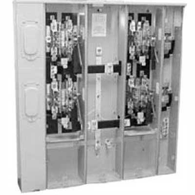 Milbank U4372-XT-5T9 Ringless Condominium Metering Bank; 120/240 Volt AC, 200 Amp Continuous, 1-Phase, Surface Mount
