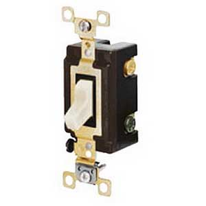 Hubbell Wiring S120W Decrator Style Toggle Switch; 1-Pole, 20 Amp, 120/277 Volt AC, White