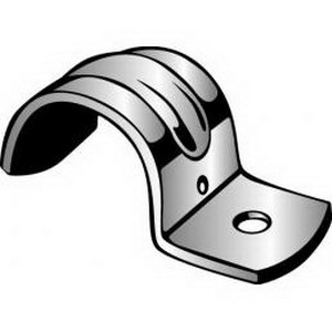 Minerallac MED50 Medium Duty Jiffy-Clip 1-Hole Pipe Strap; 3/4 Inch, Steel, Zinc-Plated