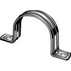 Minerallac 280 2-Hole BX Strap; 1-1/2 Inch, Steel, Zinc-Plated