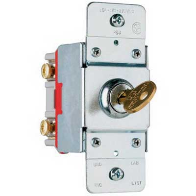 Pass & Seymour PS20AC1-KL Extra Heavy Duty Specification Grade Security Switch 120 - 277 Volt AC  20 Amp 1-Pole
