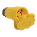 Pass & Seymour 25W-47 Turnlok® Watertight Locking Connector; 2-Pole, 3-Wire, 15 Amp, 125 Volt AC, NEMA L5-15R, Yellow