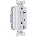 Pass & Seymour 2095-NAW tradeMaster® Specification Grade GFCI Duplex Receptacle; 2-Pole, 20 Amp, 125 Volt, 5-20R NEMA, Screw Mount, White