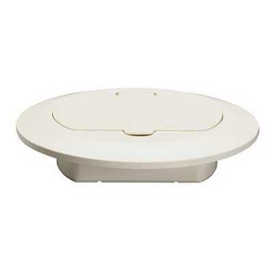 Pass & Seymour TM1542-TR-W Slater® Floor Box Cover; PVC