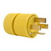 Pass & Seymour D1861 Non-Grounding Gator Grip Plug; 4-Pole, 4-Wire, 60 Amp, 120/208 Volt, NEMA18-60, Cord Mount, Yellow