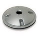 Perfect-Line Y2PL Round Weatherproof Lamp Holder Cover; 4-1/8 Inch OD, Die-Cast Aluminum, Silver Gray