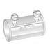 Peco 316 Concretetight EMT Coupling; 2-1/2 Inch, Set Screw, Die-Cast Zinc