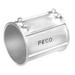 Peco 319ST Concretetight EMT Coupling; 4 Inch, Set Screw, Steel, Zinc-Plated