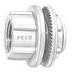 Peco WH-10 Watertight Hub With Insulated Throat; 4 Inch, Die-Cast Zinc