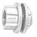 Peco WH-8 Watertight Hub With Insulated Throat; 3 Inch, Die-Cast Zinc