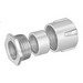 Peco 375 Three-Piece Conduit Coupling; 2 Inch, Malleable Iron