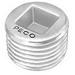 Peco 1018C Insert Plug Countersunk; 3-1/2 Inch, Malleable Iron