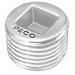 Peco 1019C Insert Plug Countersunk; 4 Inch, Malleable Iron