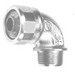 Peco CG-50-A35090 90 Degree Strain Relief Cord Connector With Bushing; 1/2 Inch, 0.350 - 0.250 Inch, Steel