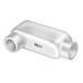 Peco LB-250A Type LB Conduit Body; 2-1/2 Inch Hub, Pressure Cast Copper Free Aluminum
