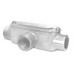 Peco TC-50A Type T Fitting With Cover and Gasket; 1/2 Inch Hub, Pressure Cast Copper Free Aluminum