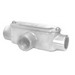 Peco TC-100A Type T Fitting With Cover and Gasket; 1 Inch Hub, Pressure Cast Copper Free Aluminum