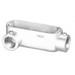 Peco LR-50AE Type LR Conduit Body; 1/2 Inch Hub, Pressure Cast Copper Free Aluminum