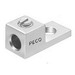 Peco S-70 One Piece Solderless Lug; 14 AWG Solid - 4 AWG Stranded, 1/4 Inch Bolt, 1 Conductor, Electrolytic Copper